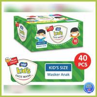 Masker Anak SENSI KIDS 3 Ply Earloop 1 Box 40 pcs