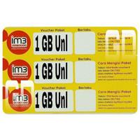 Voucher Data Indosat 1GB Unlimited