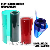 Plastik Mika Lentur Hitam Warna Utk Bahan Tas / Souvenir 122cm/0,50mm