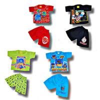 Setelan Baju Anak Harian Pendek Karakter