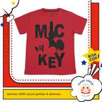 Baju anak laki-laki / Kaos anak laki-laki motif Mickey Mouse Red 1-10