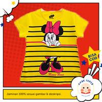 Baju/Kaos Anak Lengan Pendek Motif Minnie Salur 1 - 10 Tahun