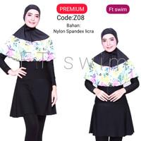 Baju renang muslimah dewasa/wanita/pakaian renang remaja perempuan - Z08, M