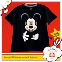 Baju anak / Kaos anak laki-laki motif Mickey Mouse Black 1-10 tahun