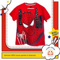 Kaos Anak Laki-Laki Lengan Pendek Motif Spiderman Face 1 - 10