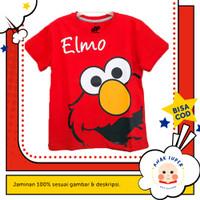 Baju/Kaos Anak Lengan Pendek Motif ELMO 1 - 10 Tahun - 1-2 Tahun