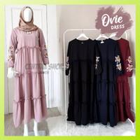Baju Gamis Muslim Syari Wanita Ovie Dress Pesta Remaja Terbaru Murah