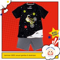 Baju Anak/Setelan anak laki-laki Motif Astronaut BMX 1 - 10 thn - 1-2 Tahun