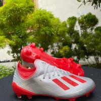 Sepatu Bola Adidas X 19.1 Silver Red FG