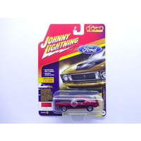 Johnny Lightning 1973 Ford Mustang Mach 1 Red Classic Gold