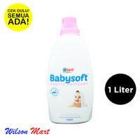 YURI BABYSOFT FABRIC SOFTENER 1000 ML 1 LITER BOTOL BABY SOFT