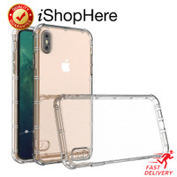 Air Pillow Anti Crack Clear Case Casing Bening iPhone X XR XS Max