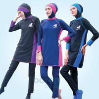 Baju Renang Muslimah Sporte Setelan Premium Fit Spandex Quick Dry