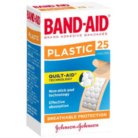 Band-Aid Plastic Adhesive Strips 25 Pack - Import From Australia