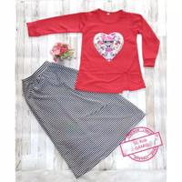 Gamis anak setelan rok anak sd usia umur 5 6 7 8 9 10 tahun baju LOL