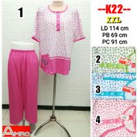 Babydoll Amro Label merah Setelan Kaos CP XXL Busui Baju Tidur Piyama