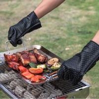 Sarung Tangan Silikon Gloves Tebal Tahan Panas Oven Mittens