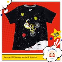 Baju/Kaos Anak Lengan Pendek Motif Astronaut BMX 1 - 10 Tahun