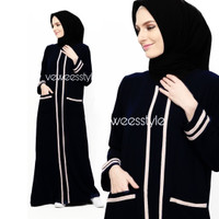 Gamis abaya arab hitam emeral
