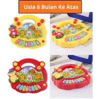 Mainan Bayi Animal Farm Piano Musik Anak 6 7 8 9 10 11 Bulan 1 Tahun