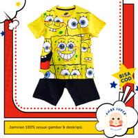 Setelan Full Print Spongebob 1 - 10 tahun