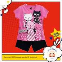 Setelan Baju/Kaos Anak Motif Group Cat 1 - 10 Tahun