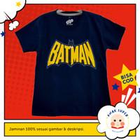 Baju/Kaos Anak Lengan Pendek Motif Batman NAVY 1 - 10 Tahun