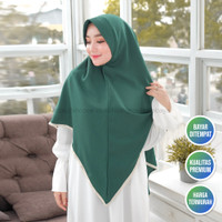 Hijab Instan Dewasa Bahan Wolfis Premium Khimar Namirah Nyaman Dipakai