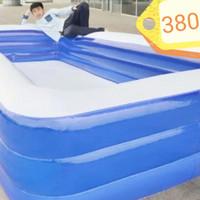 KOLAM RENANG Anak Bestway (bukan) kotak polos Jumbo 375 cm pool karet