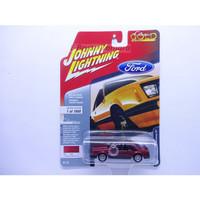 JOHNNY LIGHTNING FORD - 1982 Ford Mustang GT Merah