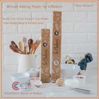 Le Bakers Brown Baking Paper Size 30 cm & 40 cm   Free Bubble Wrap