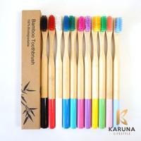 Sikat Gigi Bambu Hijau Eco-Friendly Bamboo Charcoal Toothbrush
