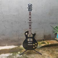 Gitar Elektrik Gibson Les Paul Hitam custom cocok utk Rock Pop dll