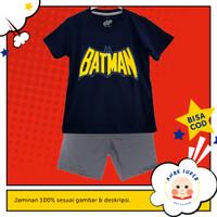 Baju Anak Laki-Laki Setelan Motif Batman Navy 1 - 10 Thn