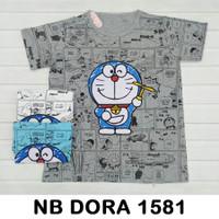 Doraemon NON BATWING Kaos Cupcake Jumbo Baju Atasan Wanita Big SizeXXL