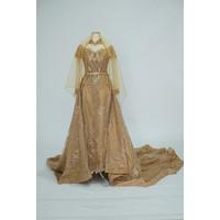 baju pengantin jawa modern bisa muslim warna emas