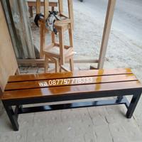bangku panjang jari2 120x30x45 kayu jati Belanda