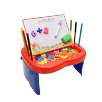 Mainan Edukasi Meja Papan Tulis Belajar Anak Menggambar 2 3 4 5 Tahun