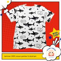 Baju/Kaos Anak Lengan Pendek Motif Ikan Fullprint 1 - 10 Tahun