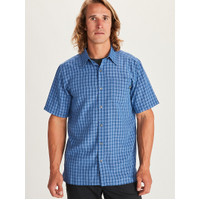 MMT Men Plaid Blue Shirt Outdoor Original - Kemeja Gunung Pria Branded