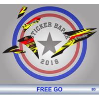 Stiker Striping list motor FREEGO FREE GO b3