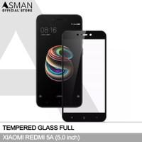 Tempered Glass Full Xiaomi Redmi 5A (5.0)   Anti Gores Kaca - Hitam