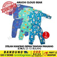 SML/XL/XXL - 1 Pcs Stelan Panjang Aruchi Baju Piyama Bayi CLOUD BEAR