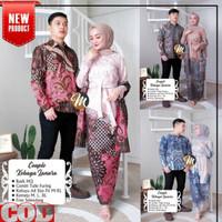 Baju Kebaya Couple Brukat Batik Setelan Wanita Muslim Pasangan Modern