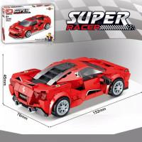 Brick mobil balap LW5002 Ferrari F8 Tributo compatible lego 76895