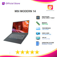MSI MODERN 14 i7 1165G7 16GB 512GB MX450 2GB W10 14FHD -B11SB.217 -218