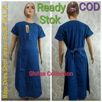 Baju Dress Anak Levis / Soft Jeans / Size M,L,XL