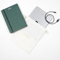 KEPOMP Pouch Serut Kanvas Besar String Bag Travel Premium Unisex