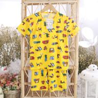 Setelan Anak laki printing- Baju Anak Celana Joger 1-9tahun mommyscare - animal printing, S
