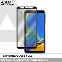 Tempered Glass Full Samsung Galaxy J6 Plus | Anti Gores Kaca - Hitam